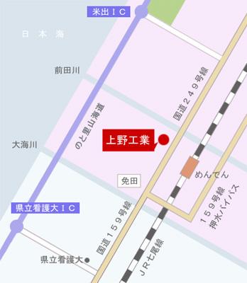 上野工業地図