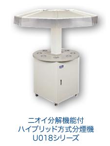 ニオイ分解機能付ハイブリッド方式分煙機U018シリーズ